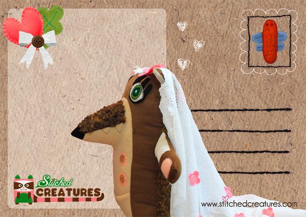 Postcard Printing Design - Stitched Creatures