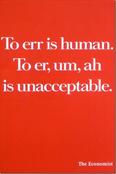 Text Print Ad by CO - The Economist