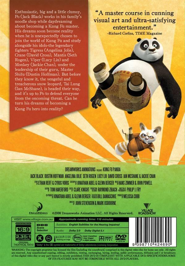 DVD Marketing - Kung Fu Panda DVD Cover Redesign 2
