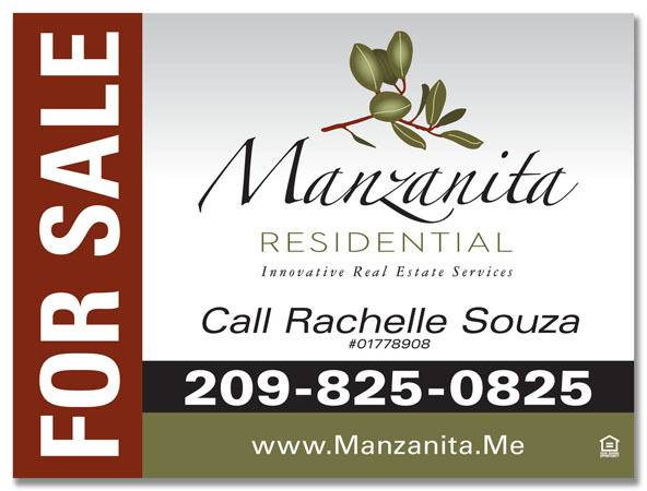 Real Estate Marketing - Manzanita Venture - For Sale Sign