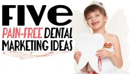 Tooth fairy giving some dental marketing ideas.