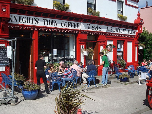 Knightstown Coffee shop, Valentia Island, Ireland. This coffee shop also has a second hand book shop where passers by can exchange their books for anything other book there. There really is a large little collection of books to choose from for a very nominal price.