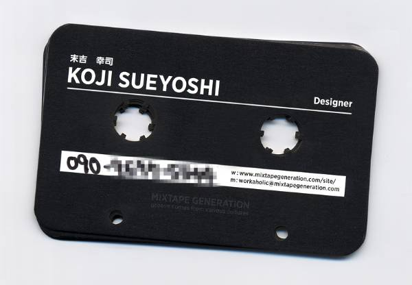 Business card design by Koji Sueyoshi