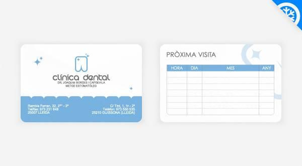 Dental Business Card Design - Bordes Clinica Dental