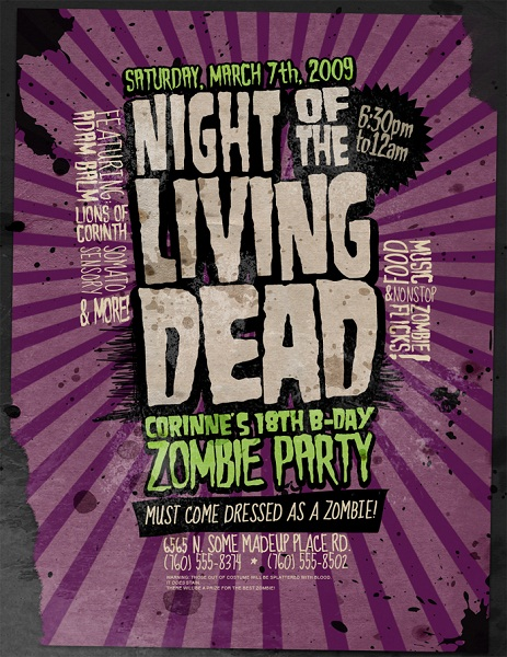 Night Of The Living Dead by stuckwithpins