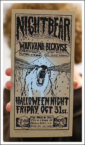 Hand screened Nightbear flyer