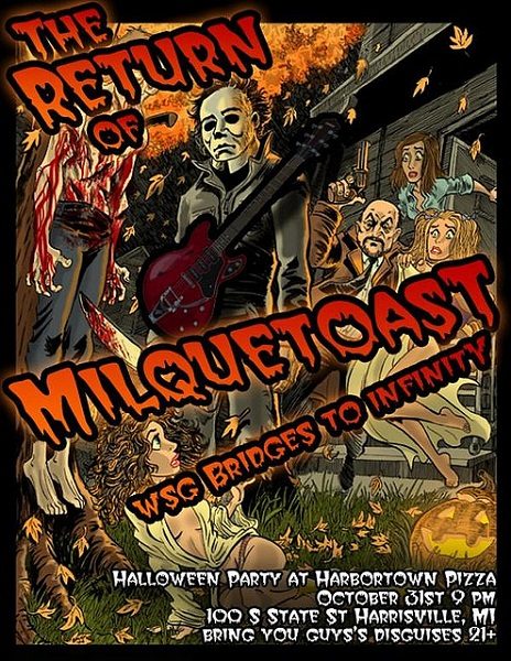 Milquetoast Halloween Show Flyer