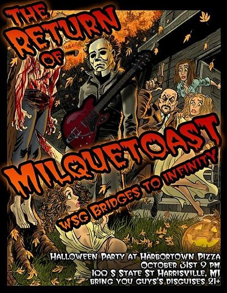 Milquetoast Halloween Show Flyer