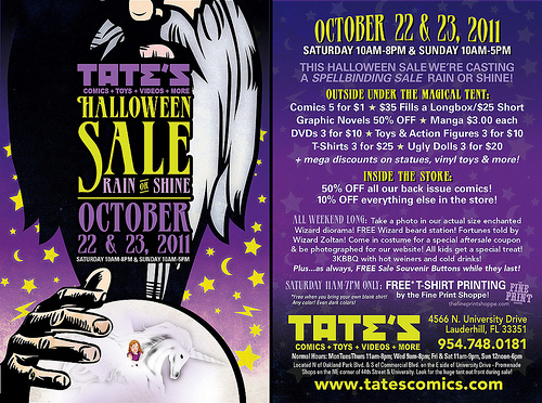 TATE'S 2012 Halloween Sale Flyer
