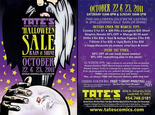 TATE'S 2012 Halloween Sale Flyer