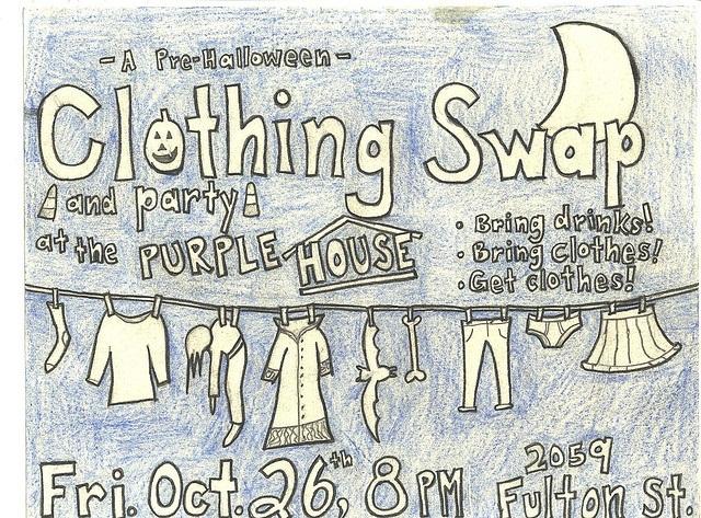Pre-Halloween: Clothing Swap Flyer