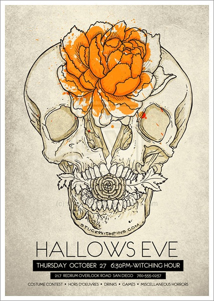 Hallows Eve Flyer by stuckwithpins