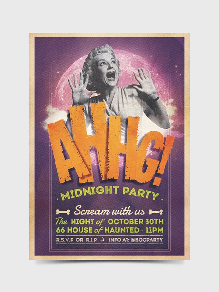 AHHG! - MIDNIGHT PARTY Flyer