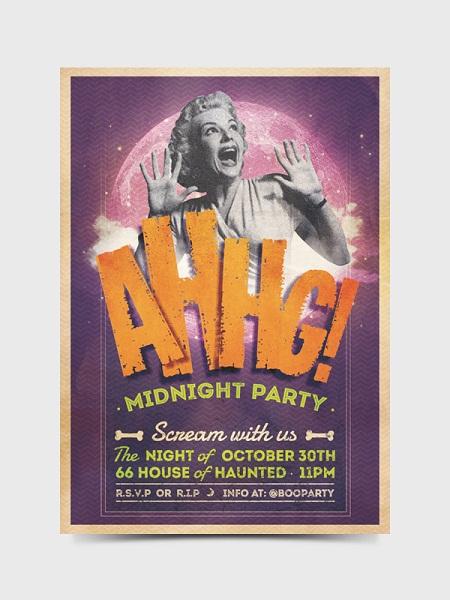 AHHG! - MIDNIGHT PARTY Flyer