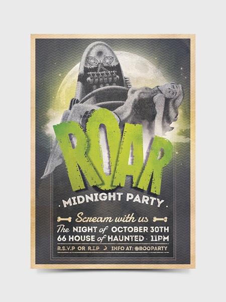 ROAR - MIDNIGHT PARTY Flyer