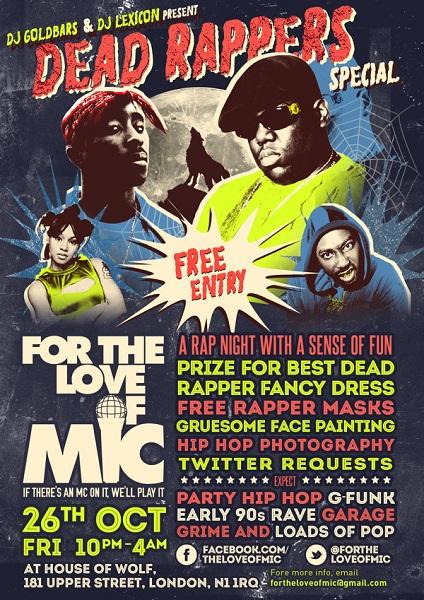Dead Rappers - Halloween Flyer