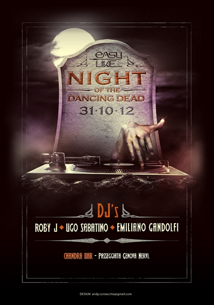 Night of the Dancing Dead Flyer