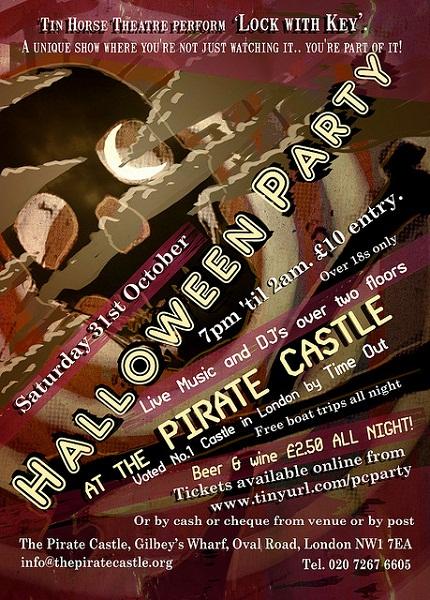 Pirate Castle Halloween flyer