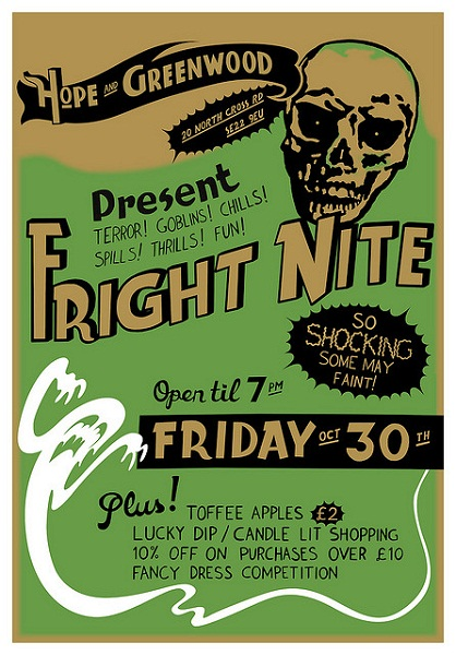 Hope & Greenwood Halloween Flyer Colour