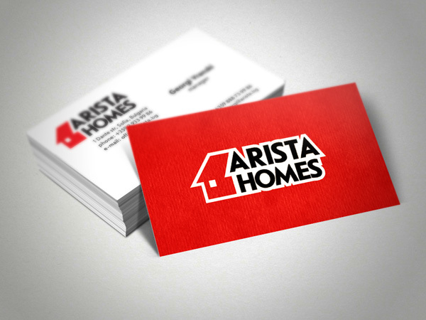 Arista Homes Business Card Design