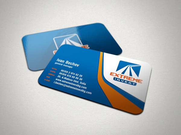 Extreme Invest Business Card Design