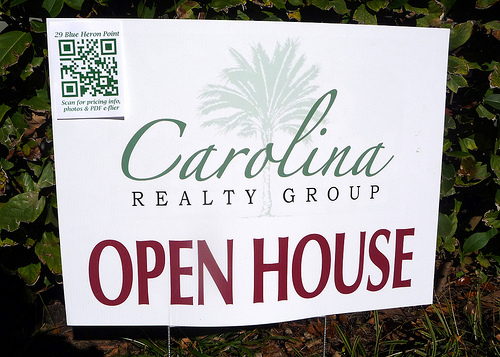 QR Code Yard Sign on Hilton Head Island, SC