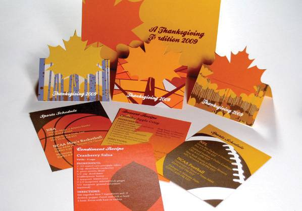 Thanksgiving mailer sent out by Riverbed Design
