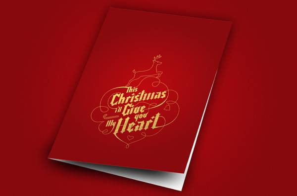 25 jolly holiday christmas card designs for inspiration this christmas ill give you my heart greeting card m4hsunfo