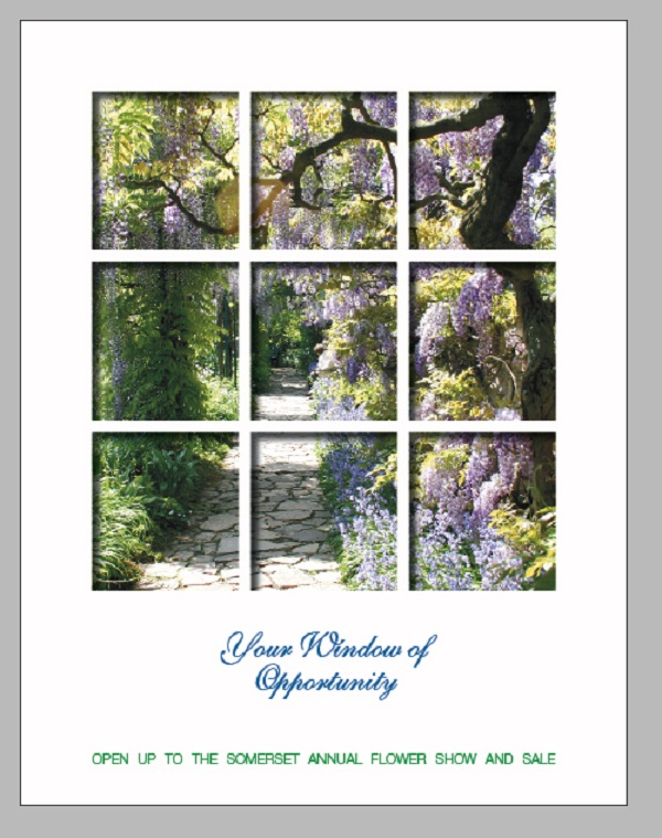 Creating a Window Through Your Brochure Cover