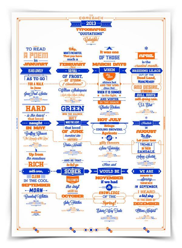 2013 Typographic Quotations Calendar