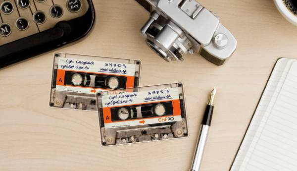 Cassette Tape Business Card by Koji Sueyoshi