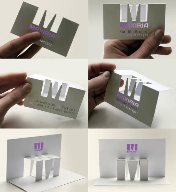 Custom Pop-up Business Card Design