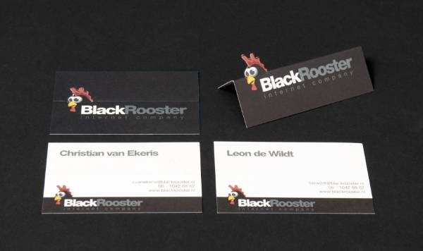 Black Rooster Business Card Design