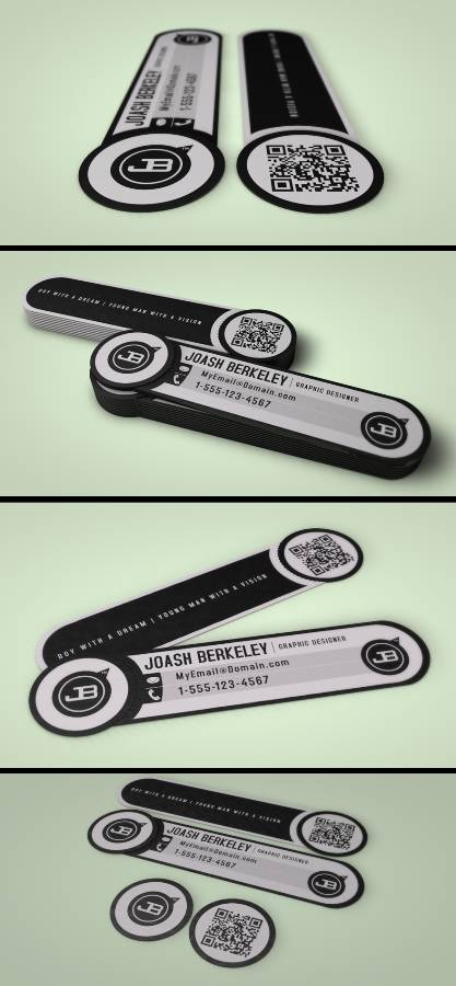 Business Card with Removable QR Code Snipet