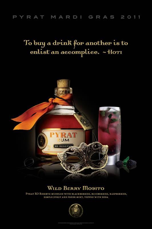Pyrat Rum Mardi Gras PROMOTIONAL PRINT ADS