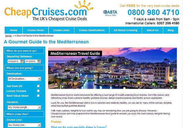Mediterranean Food Guide from Cheap Cruises