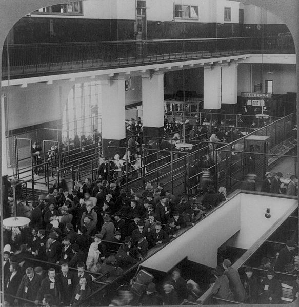 Ellis Island arrivals - Library of Congress Prints and Photographs Division