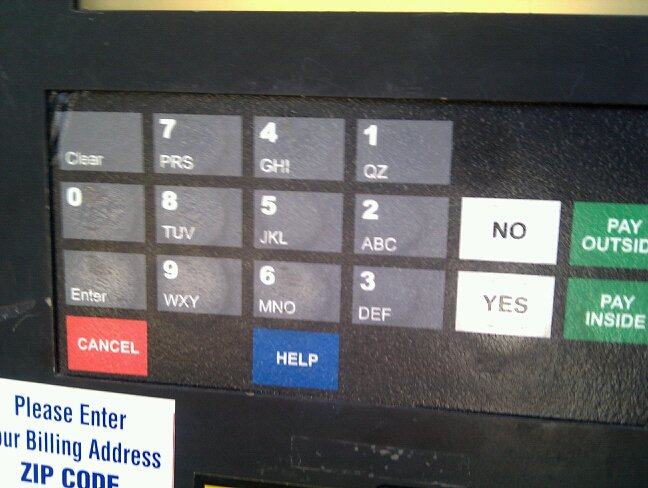 Gas Station Keypad