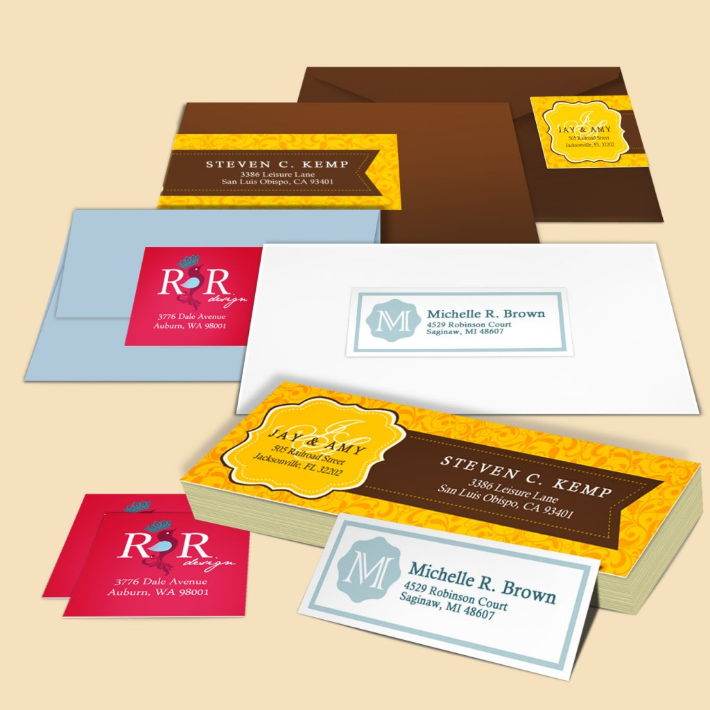 Cut-to-Size Address Labels