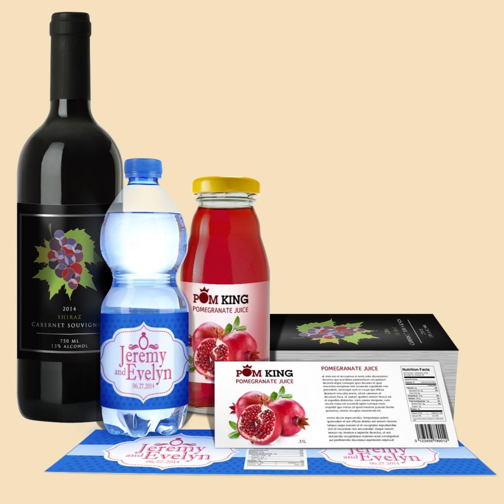 Cut-to-Sizel Bottle Labels