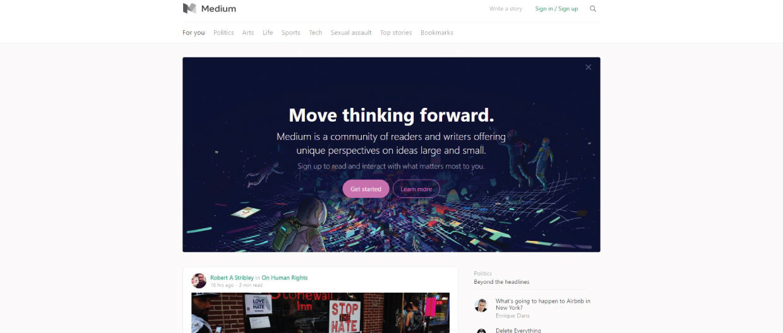 best blogging platforms Medium Homepage