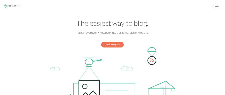 best blogging platforms Postach.io homepage