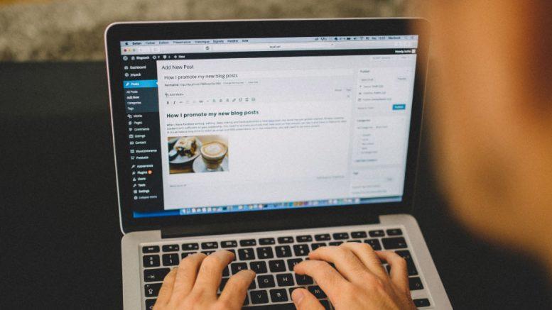 Blogger using blogging platform Wordpress