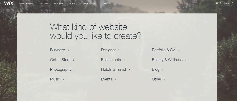 best blogging platforms Wix Homepage