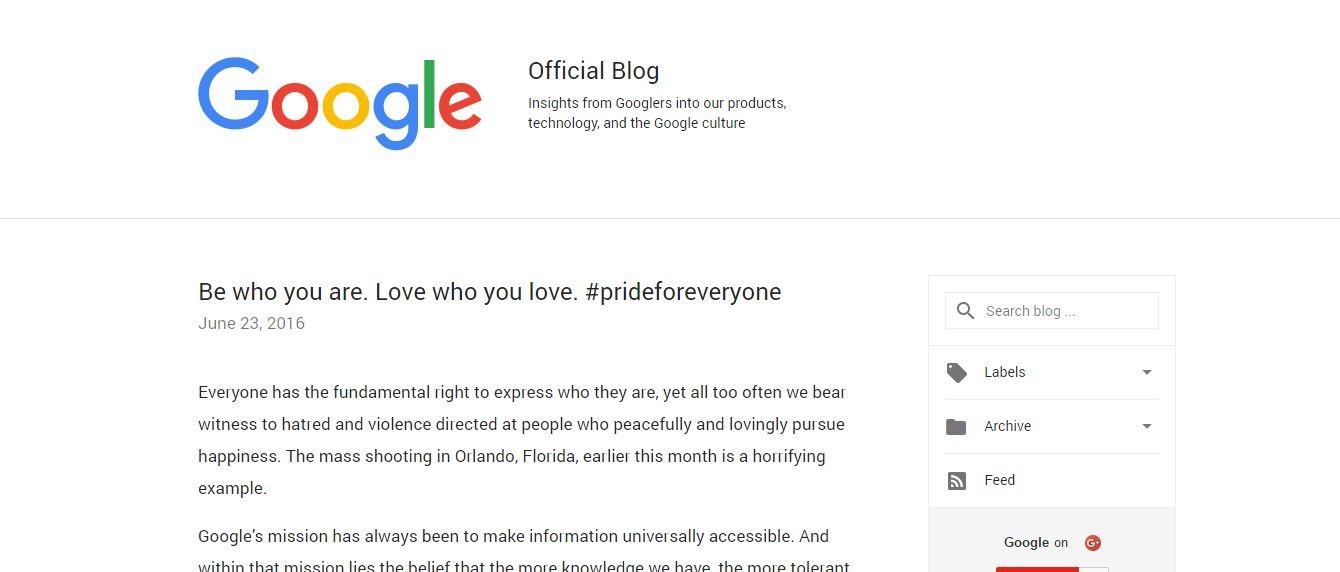 Blogger account of Google