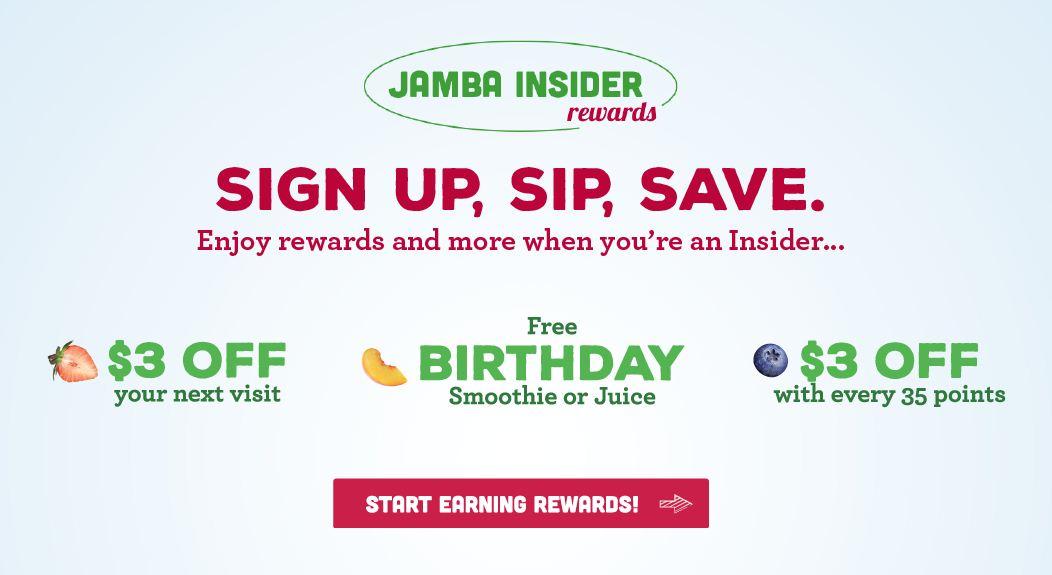 Details of Jamba Insider Rewards