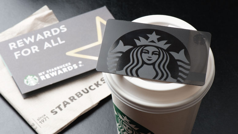Starbucks' rewards card.