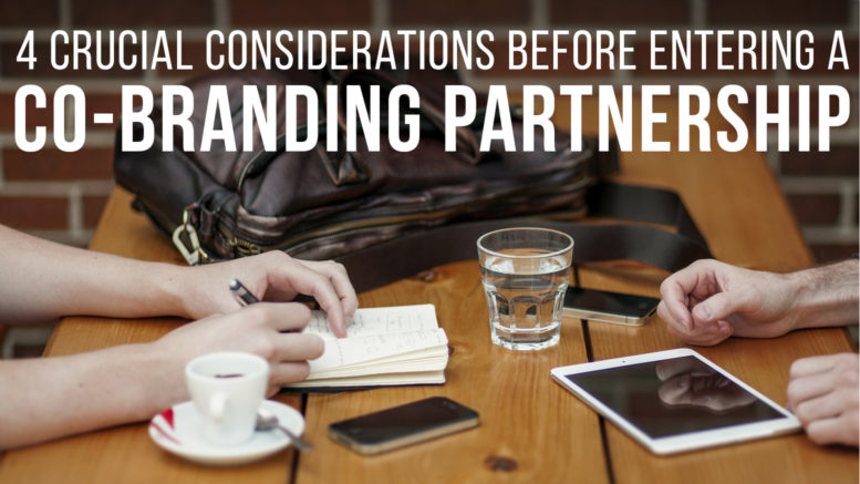 crucial considerations before entering a co-branding partnership