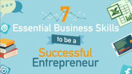 Infographic for 7 essential business skills to be a successful entrepreneur