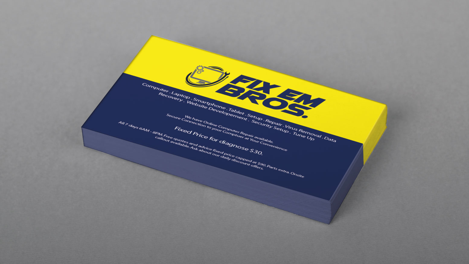 4 characteristics of a bad business card design printrunner blog small font size on business cards magicingreecefo Image collections